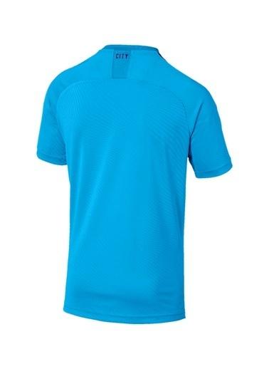 Puma Puma MCFC HOME Shirt Replica SS T-Shirt Mavi